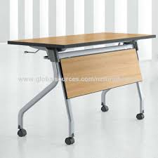 N China Office Desk With Folding Training Table