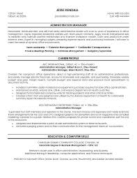 free administration manager resume example sample administrator resume