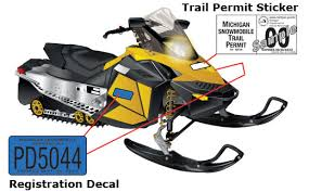 Your <b>Snowmobile's</b> Registration Certificate and <b>Decal</b>   MI ...