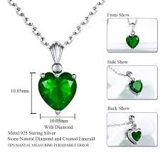 2019 double r 925 sterling silver emerald necklace sapphire pendant ruby jewelry heart necklaces pendants for women silver 925 from ylingnei