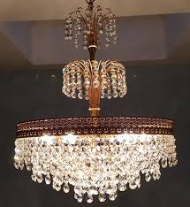 chandelier made of high quality crystal 2nd half of the 20th century