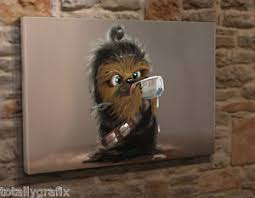 image is loading large box canvas wall art picture print baby  on star wars baby wall art with large box canvas wall art picture print baby chewbacca star wars 18
