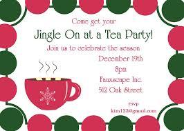 Christmas Tea Party Invitations Christmas Tea Party Invitations 2017
