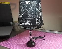 Vinic lighting Led Strips Star Trek Uss Enterprise Inspired Fabric Lamp Yochicago Enterprise Lamp Etsy