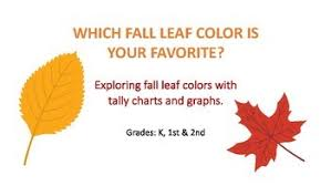 Fall Leaf Color Chart Favorite Fall Leaf Colors Using Tally Charts And Graphs