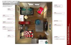 Awesome One Bedroom Efficiency Apartment Plans Contemporary - Studio apartment decorating girls