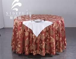 meja linen hotel jacquard round table cloth