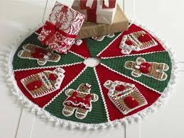 Christmas Tree Skirt Crochet Pattern Beauteous Gingerbread Tree Skirt Crochet Pattern Maggie's Crochet