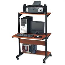 desk small computer table on wheels office chair regarding with portable desk on wheels ideas