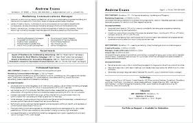 Advertising Account Manager Resume Marketing Communications Manager