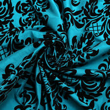 Curtain Fabric Victoria Floral Taffeta Damask Velvet Flock Upholstery Curtain