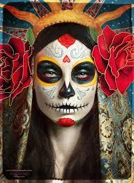 día de los muertos sugar skull makeup art