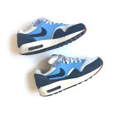 Air Max One Light Blue Og Suede Nike Air Max One White Navy And Baby Depop