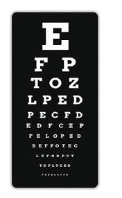 Smartphone Eye Chart Only People With 20 20 Vision Can Pass This Eye Chart Test