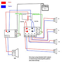 4 channel car amp wiring diagram how to hook up a 4 channel amp to front and rear speakers at Wiring Diagram For Car Amplifier