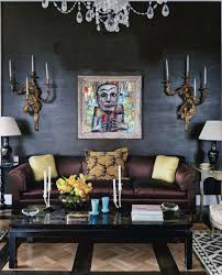 Interior:Gothic African Theme Interior Design With Classic Chandelier Wall  Mount Idea Gothic African Theme