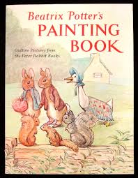 beatrix potter s painting book outline pictures from the peter rabbit books warne