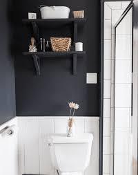 dark gray bathroom shelf