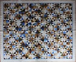 171 best Winding Ways Quilts images on Pinterest | Quilt patterns ... & Handmade 'Winding Ways' Quilt x in Blues & Browns Adamdwight.com