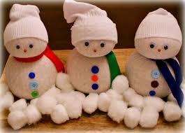 sock snowmen craft
