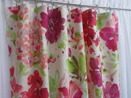 Pink Bedroom Curtains Pink Floral Curtains Etsy