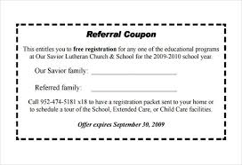 Referral Coupon Template Blank Coupons Templates Resume Template ...
