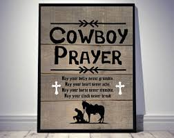 cowboy prayer wall art