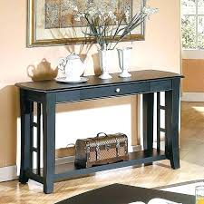 enchanting black entry table silver company sofa home furniture showroom round finish console with drawer