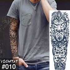 новый 4817 см полный тату цветок на руку стикер японский стиль карп лотус временная