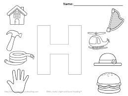 Letter H Worksheet Letter H Coloring Pages Printable Free Alphabet ...