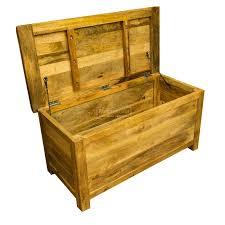 garda light mango wood blanket box storage trunk