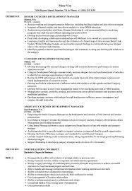 Category Development Manager Sample Resume Category Development Manager Resume Samples Velvet Jobs 2