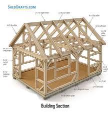20 post beam barn shed plans blueprints