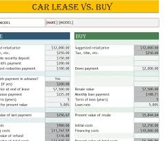 Lease Vs Buying Car Car Lease Vs Buy Calculator