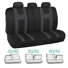 car seat covers and beige floor mats
