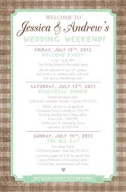 Wedding Itinerary Country Chic Wedding Weekend Itinerary By Paper Lac With Wedding 20