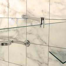 frameless shower rail support bar system