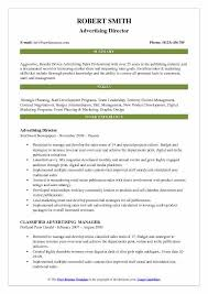 Newspaper Advertising Contract Template Advertising Director Resume Samples Qwikresume