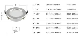 recessed light size