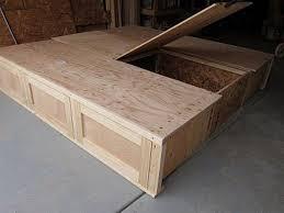 king storage bed plans. Diy King Bed Plans | DIY Size - Center Storage N