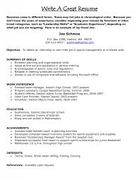 Sample Of Great Resume with keyword