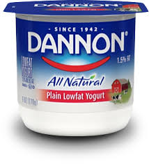 Image result for dannon yogurt label
