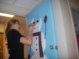 winter door decorating contest. Photo Of Kathleen Decorating The Door Winter Contest