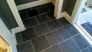 cleaning grout haze off the slate tiles in the front entrance hall and