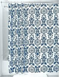 sublime blue and white shower curtains enchanting navy blue patterned curtains and blue and white shower