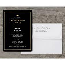 Elegant Graduation Announcements Elegant Grad Deluxe Graduation Invitation