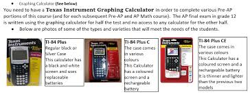 Downloadable Calculators Ap Graphing Calculator Information Ms Carignans Math Site