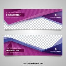 banner design template modern banner with beautiful geometric shapes vector free download