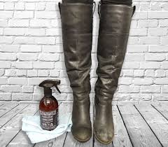 leather boots cleaned with dirtbusters leather cleaner