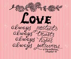 Lettrage à La Main Amour Toujours Fait à Côté De Lornement De Fleurs Fond Biblique Mariage La Saint Valentin